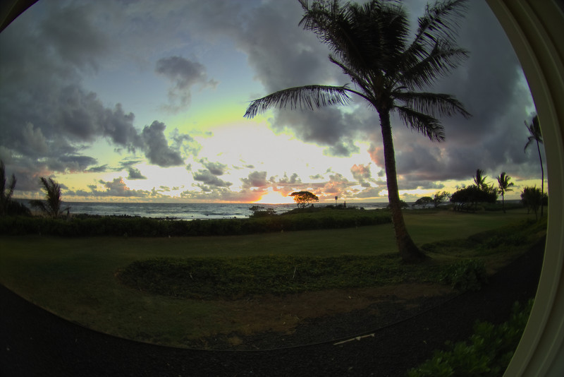 "The ""fisheye"" view of sunrise."