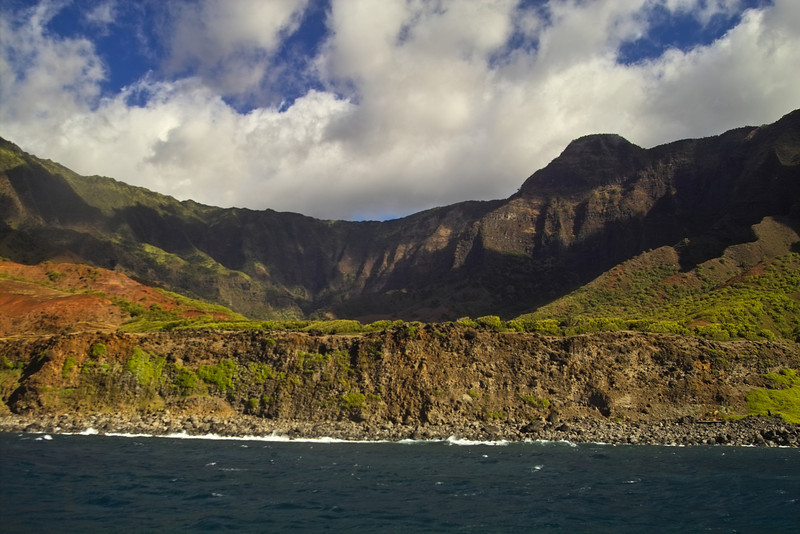 Kalalau Valley is as picturesque from the ocean as it is from the lookouts high above.