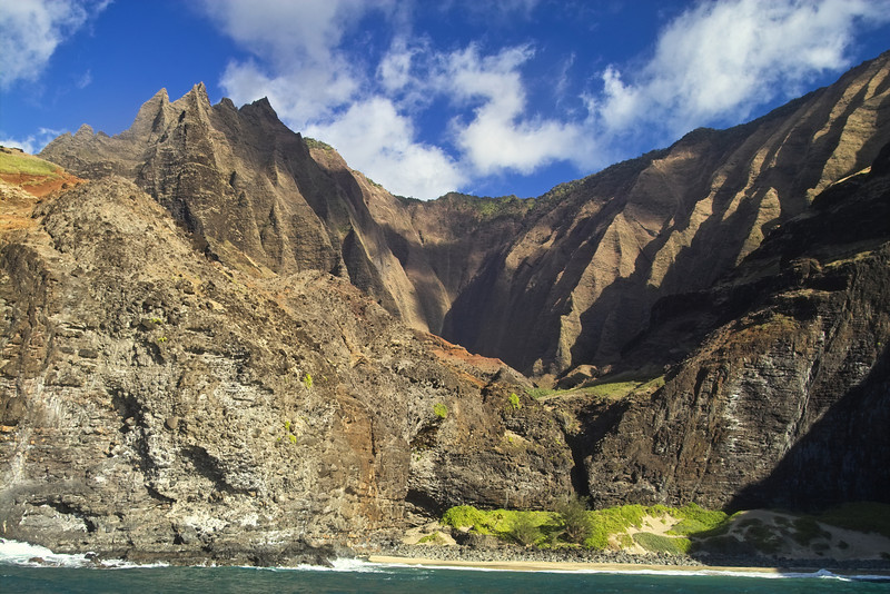 The lava cliffs from the ocean side are breathtaking.
