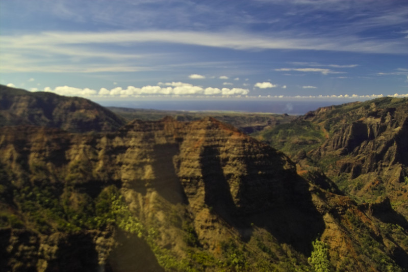 Waimea Canyon cliffs up close.