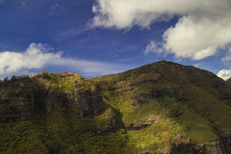 The first order of the day was the long awaited helicopter tour.  The beautiful Haupu Ridge was the first awesome sight after takeoff from Lihue.
