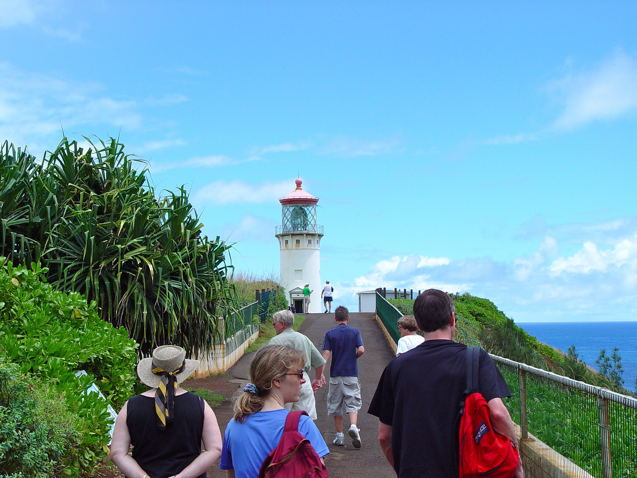 The Kilauea Lighthouse was our first tourist stop.  This famous navigation guide is also the most northern point in the Hawaiian Island chain.