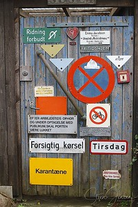 Traffic signs; Trafik skilte;