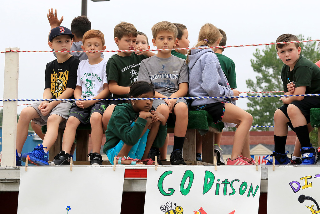 . Participating in the Billerica Yankee Doodle Homecoming Parade on Saturday, September 15, 2018 is students from the Thomas Ditson Elementary School . SUN/JOHN LOVE