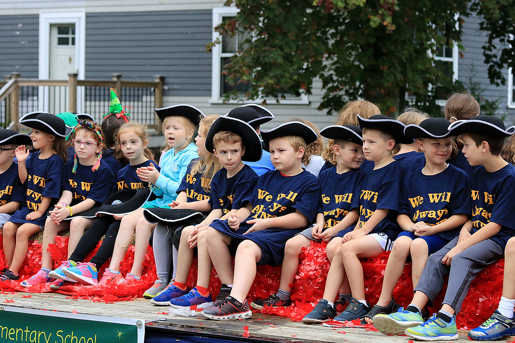 . Participating in the Billerica Yankee Doodle Homecoming Parade on Saturday, September 15, 2018 is students from the Vining Elementary School  SUN/JOHN LOVE