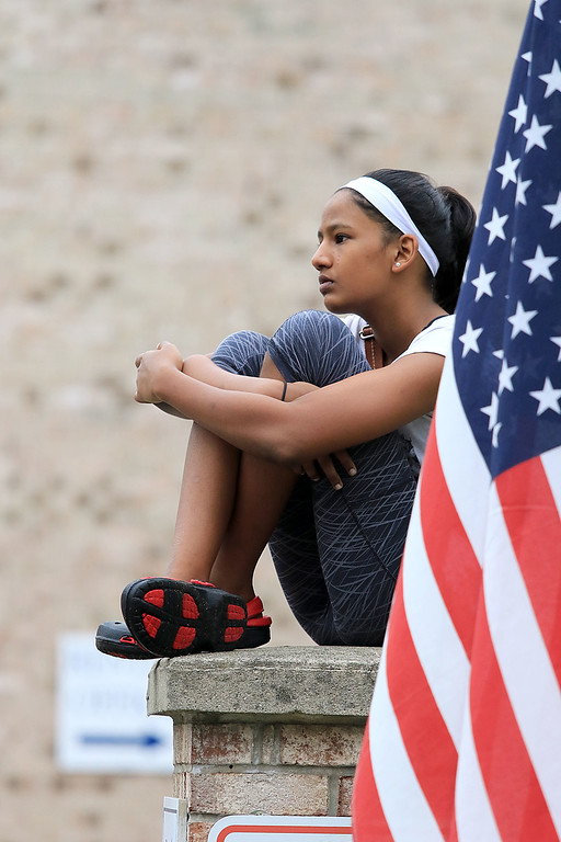 . Watching the Billerica Yankee Doodle Homecoming Parade on Saturday, September 15, 2018 is Anushka Dare, 12, of Billerica. SUN/JOHN LOVE