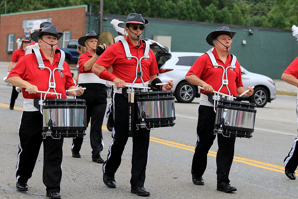 . Participating in the Billerica Yankee Doodle Homecoming Parade on Saturday, September 15, 2018 is drummers from the North Star Drum & Bugle Corp. SUN/JOHN LOVE