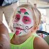 Kiera Harvey, 7, of Billerica gets her face painted at the Yankee Doodle event in Billerica. SUN/Caley McGuane