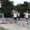 Field Conductor Colin Brooks directed the core group of musicians and color guard members. -- photo by Mary Leach
