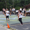 Band members don't miss a note as they dance throughout the performance on the last day of band camp. -- photo by Mary Leach