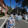 Bags of bottles and cans were collected during a special collection drive held Oct. 15 at the Billerica Public Library. -- photo by Mary Leach