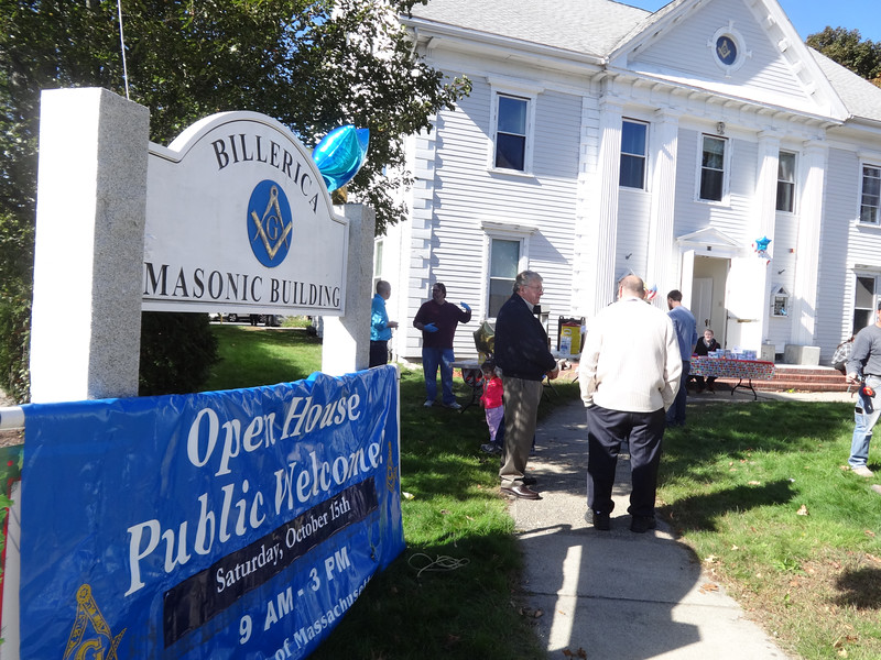 The Thomas Talbot Lodge held an open house on Oct. 15 and invited the community the community to learn more about freemasons.  -- photo by Mary Leach