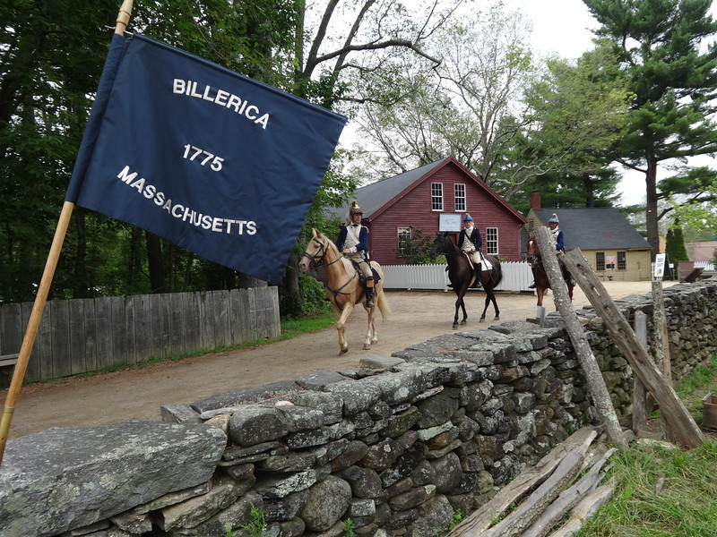 The Billerica Colonial Minute Men encamped at Old Sturbridge Village as part of its 13th annual Redcoats & Rebels event Aug. 6 and 7. -- photo by Mary Leach