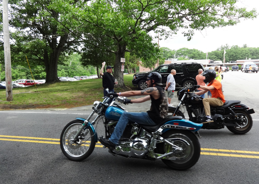 . Bikers head out for the Vets1st ride. Photo by Mary Leach