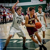 At left, Billerica's Ryan Murphy is ready to block Concord Carlisle's Spencer Patenaude during their game at Billerica High School. SUN/Caley McGuane