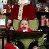 Santa is definitely watching McKenna McReynolds,10 months, of Saginaw, Texas. -- photo by Mary Leach