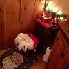 Even the bathroom is decorated for the holidays! -- photo by Mary Leach