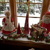 Santa and Mrs. Claus sit in a nearby window in Billerica's most Christmassy house. -- photo by Mary Leach