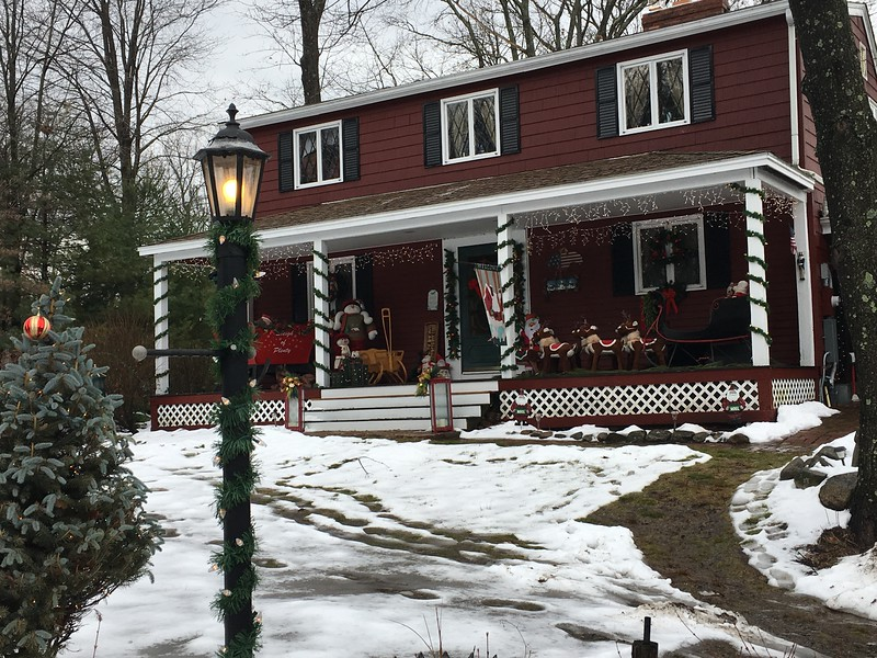 A dusting of snow only makes the house seem more Christmassy. -- photo by Mary Leach
