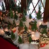 An entire village is displayed, decorated for Christmas, of course.-- photo by Mary Leach