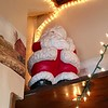 Santa watches from every corner in Billerica's most Christmassy house. -- photo by Mary Leach