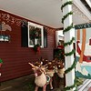 Dasher, Dancer and their other stuffed friends are at the ready on this festive porch. -- photo by Mary Leach