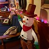 A cowboy snowman continues the theme in the den downstairs. -- photo by Mary Leach