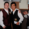 Jim Shovak congratulates tournament winner, Sonny Cho