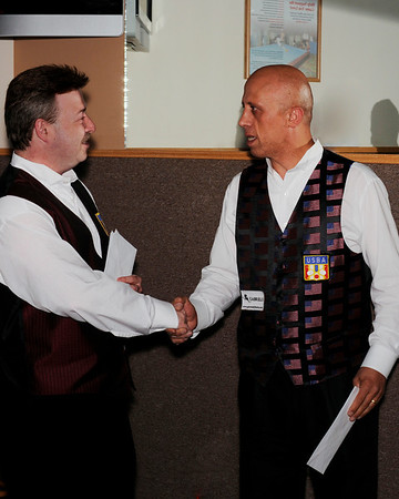 Jim Shovak congratulates Mazin Shooni