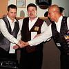 Mazin Shooni and Jim Shovak congratulate Dan Kolacz