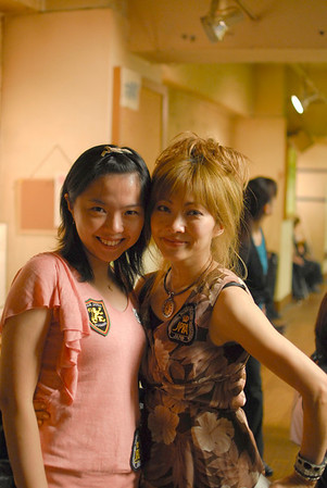 Li & Akiko - both taking some time for a photo.