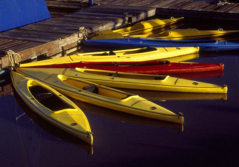 Kayaks at Moss Landing Yacht Club, Moss landing,California