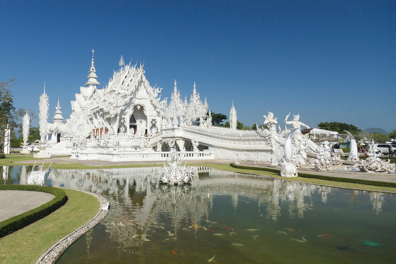 The White Temple, Wat Rong Khun, in Chiang Mai, Thailand