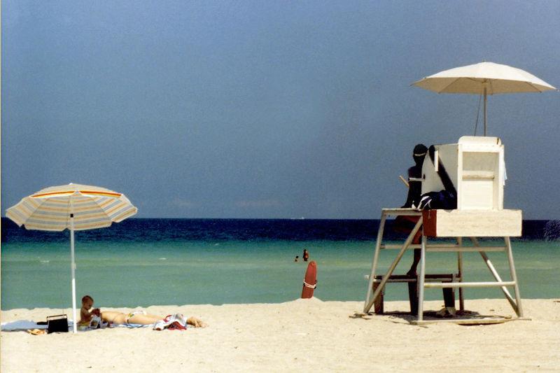 Quiet beach scene, Hollywood, Florida