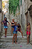 Girls being girls in Kotor, Montenegro