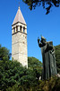 Bishop Gregory statue outside Diocletians Palace in Split, Croatia
