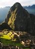 Machu Picchu & Huayana Picchu, Peru, at dusk