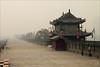 Early morning mist at City Wall of ancient Xian, China