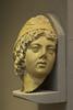A head in the Ephesus Museum in Selcuk, Turkey