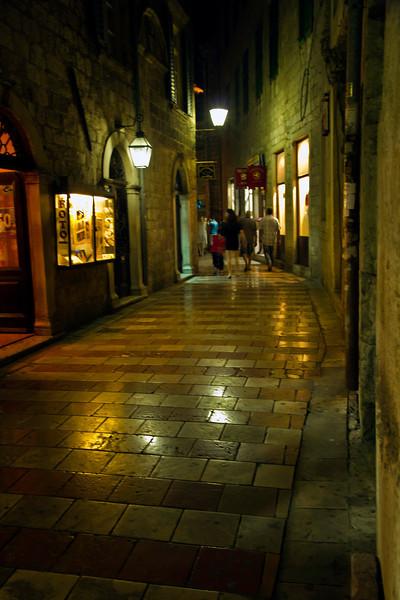 Street in nightime, Kotor, Montenegro