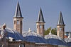 Rooftops of The former lodge of the Whirling Dervishes, Konya, Turkey