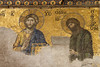One of the religious mosaics in the Hagia Sophia, Istanbul, Turkey