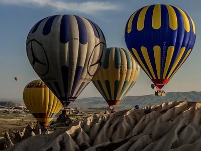 Early morning launch in Cappadocia