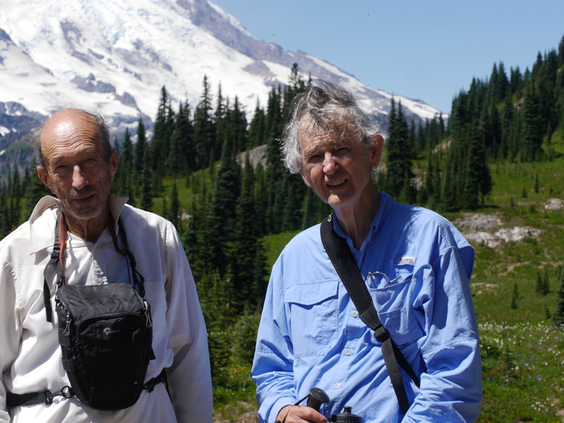 Bill had gotten advice on places to go on Mt. Rainier from an internet friend, Gary.  Gary met us for a walk for a trail with many discoveries for us.  His help with plant IDs was much appreciated.