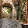 63 Cobbled stone Street in Orvieto