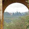 7 View through gate in Montereggioni, Italy