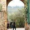 Ancient gate of Montereggioni, Italy