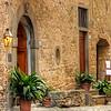 165 Cobble stone street in Montefiroalle, Italy