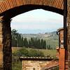 170 View through entrance gate to Montefiroalle, Italy