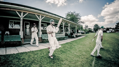 Bilton players coming out to bat on a tough square